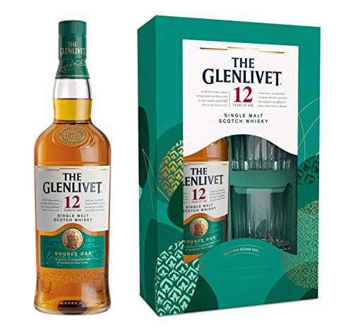 The Glenlivet 12 Years Old Single Malt Scotch Whisky 40% - 700ml in Giftbox with 2 glasses