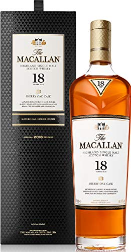 The Macallan 18 Years Old SHERRY OAK CASK Highland Single Malt Scotch Whisky 2019 43% Vol. 0,7l in Giftbox