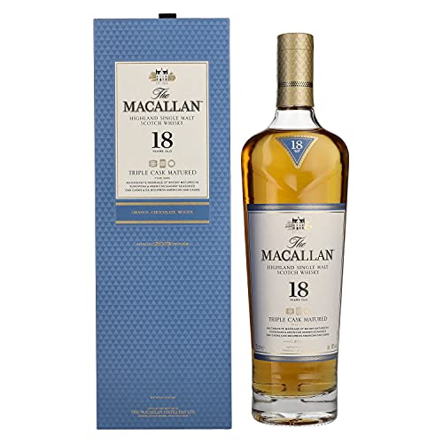 The Macallan 18 Years Old TRIPLE CASK MATURED Highland Single Malt Scotch Whisky 2019 43% Vol. 0,7l in Giftbox - 700 ml