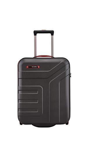 travelite valigia a mano a 2 ruote con chiusura TSA, conforme alle dimensioni standard del bagaglio a mano da cabina IATA, serie VECTOR: robusto trolley a scocca rigida in colori eleganti, 55 cm