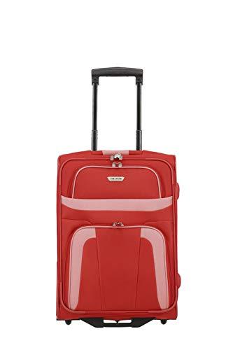 travelite valigia a mano a 2 ruote conforme alle dimensioni standard del bagaglio a mano da cabina IATA, serie di valigie ORLANDO: classico trolley semirigido dal design senza tempo, 53 cm, 37 litri