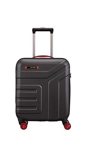 travelite valigia a mano a 4 ruote con chiusura TSA, conforme alle dimensioni standard del bagaglio a mano da cabina IATA, serie VECTOR: robusto trolley a scocca rigida in colori eleganti, 55 cm